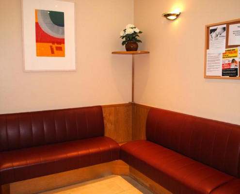 Castle Medical Centre waiting room